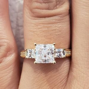 2.5 Ct Created Diamond 14K Real Solid Gold